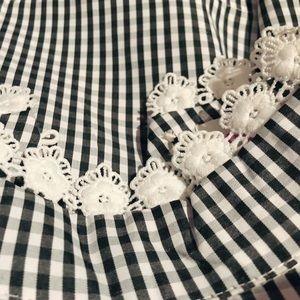 Tops - Plaid flower shirt